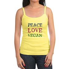 Peace Love Vegan Jr.Spaghetti Strap Top