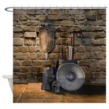 Medieval Weaponry Shower Curtain