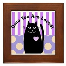 Oma you are loved 1 Framed Tile