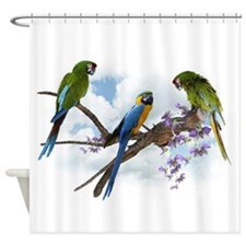 Macaw Parrots Shower Curtain