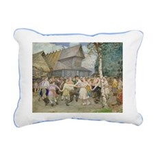 @w/c on paperA - Rectangular Canvas Pillow