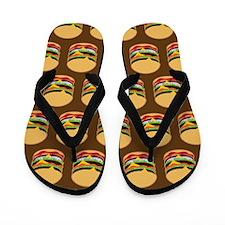 Burger BBQ Flip Flops
