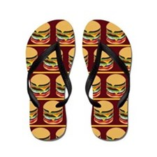 Hamburger Barbecue Flip Flops