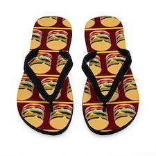 Hamburger Barbecue Flip Flops