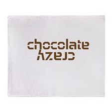 Chocolate Crazy Throw Blanket