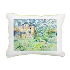 Apple Blossom Farm - Rectangular Canvas Pillow