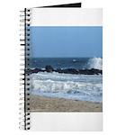 Ocean Beach Rocks Cape May Shower Curtain Journal