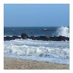 Ocean Beach Rocks Cape May Shower Curtain Square C