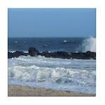 Ocean Beach Rocks Cape May Shower Curtain Tile Coa