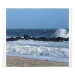 Ocean Beach Rocks Cape May Shower Curtain King Duv