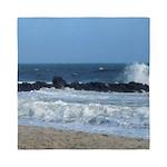 Ocean Beach Rocks Cape May Shower Curtain Queen Du