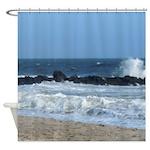 Ocean Beach Rocks Cape May Shower Curtain Shower C