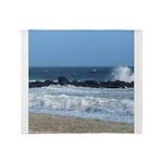 Ocean Beach Rocks Cape May Shower Curtain Throw Bl