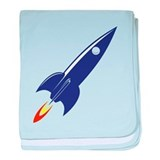 blue rocket baby blanket