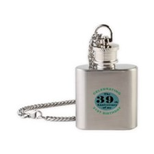 60th Birthday Humor Flask Necklace