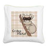 Koala Bear Square Canvas Pillow