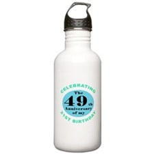 70th Birthday Humor Water Bottle