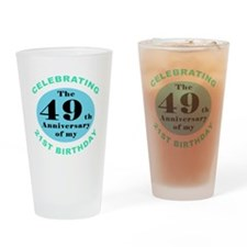 70th Birthday Humor Drinking Glass