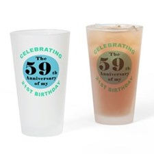 80th Birthday Humor Drinking Glass
