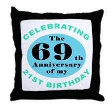 90th Birthday Humor Throw Pillow