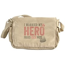 I Married my Hero Messenger Bag