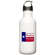 7th Generation Native Texan Flag Water Bottle
