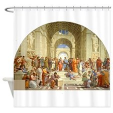 Raffaello School of Athens Shower Curtain