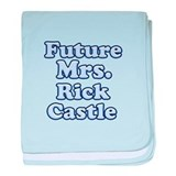 Future mrs Rick Castle blue baby blanket