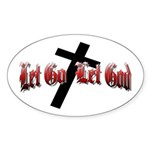 Let Go Let God Oval Sticker