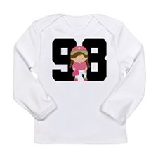 Softball Player Uniform Number 98 Long Sleeve Infa