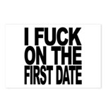 I Fuck On The First Date Postcards (Package of 8)