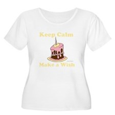 Keep Calm and Make a Wish Plus Size T-Shirt