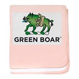 Green Boar Organic Tea baby blanket