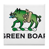 Green Boar Organic Tea Tile Coaster