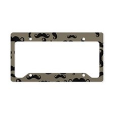 Moustache Pattern License Plate Holder