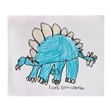 Stegosaurus Throw Blanket