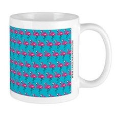 Flamingos Marching Teal Mug