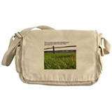 Push and Grow quote Messenger Bag