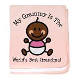 Best Grammy Ethnic Baby Girl baby blanket