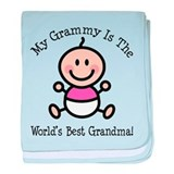 Best Grammy Baby Girl Stick Figure baby blanket