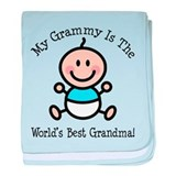Best Grammy Baby Boy Stick Figure baby blanket