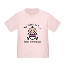 Best Mimi Baby Girl Stick Figure T
