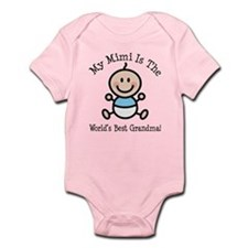 Best Mimi Baby Boy Stick Figure Infant Bodysuit