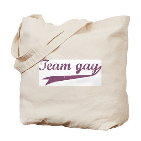 Team Gay Purple Tote Bag