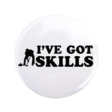 "I've got Curling skills 3.5"" Button (100 pack)"