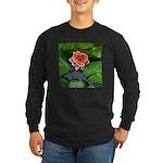Water Lily Long Sleeve Dark T-Shirt