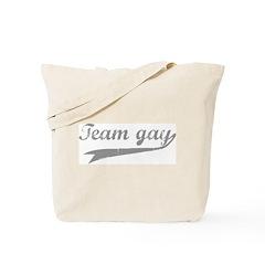 Team Gay Grey Tote Bag
