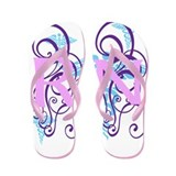 RN - Pink Purple Flip Flops