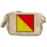 Nautical Flag Code Oscar Messenger Bag