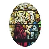 The Visitation Christmas Ornament (Oval)